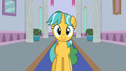 Size: 1246x701 | Tagged: safe, artist:agrol, citrine spark, fire quacker, huckleberry, headmare of the school, cute, friendship student, quackerdorable, school of friendship, youtube source