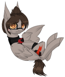 Size: 1288x1530   Tagged: safe, artist:midnightmusic, pegasus, pony, blushing, cheek fluff, clandestine industries, clothes, commission, ear fluff, eye clipping through hair, flying, frown, glasses, hair over one eye, looking at you, male, mikey way, my chemical romance, on back, ponified, shirt, simple background, solo, stallion, t-shirt, white background, wings, wristband, ych result