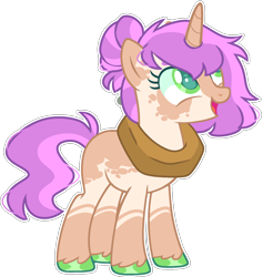 Size: 1590x1680 | Tagged: safe, artist:kurosawakuro, oc, pony, unicorn, female, mare, offspring, parent:big macintosh, parent:sugar belle, parents:sugarmac, simple background, solo, transparent background