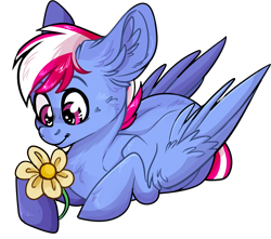 Size: 2844x2517 | Tagged: safe, artist:sherochan, oc, oc only, oc:steam loco, pegasus, pony, commission, cute, flower, male, pegasus oc, simple background, solo, sticker, sticker pack, transparent background, wings, ych result