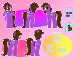 Size: 9000x7100 | Tagged: safe, artist:pokemonfan111, oc, bat pony, cute, digital art, female, information, reference sheet