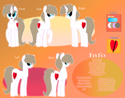Size: 9000x7100 | Tagged: safe, artist:pokemonfan111, oc, pony, unicorn, cute, digital art, female, information, reference sheet