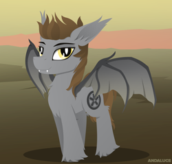 Size: 1424x1364 | Tagged: safe, artist:andaluce, oc, oc only, bat pony, solo, spread wings, wings