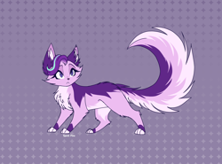 Size: 2700x2000 | Tagged: safe, artist:spirit-fire360, starlight glimmer, cat, abstract background, catified, cheek fluff, ear fluff, fluffy, solo, species swap, tail fluff