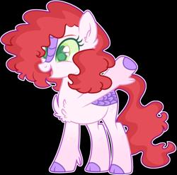 Size: 2270x2240 | Tagged: safe, artist:kurosawakuro, hybrid, kirin pony hybrid, magical lesbian spawn, offspring, parent:autumn blaze, parent:pinkie pie, simple background, solo, transparent background