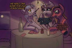 Size: 1202x800 | Tagged: safe, artist:trojan-pony, oc, oc:false prophet x, oc:pun, oc:sapphire eye rarity, earth pony, pony, ask pun, ask