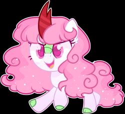 Size: 2046x1854 | Tagged: safe, artist:kurosawakuro, kirin, cute, female, filly, kirin pony hybrid, magical lesbian spawn, offspring, parent:autumn blaze, parent:twilight sparkle, simple background, solo, transparent background