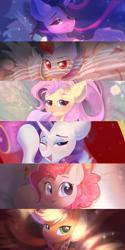 Size: 2500x5000 | Tagged: safe, artist:kebchach, applejack, fluttershy, pinkie pie, rainbow dash, rarity, twilight sparkle, alicorn, earth pony, pegasus, pony, unicorn, the last problem, mane six, my little pony, older, older applejack, older fluttershy, older mane six, older pinkie pie, older rainbow dash, older rarity, older twilight, princess twilight 2.0, twilight sparkle (alicorn)