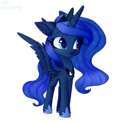 Size: 1000x1000 | Tagged: safe, artist:citrus-flamingo, princess luna, alicorn, pony, chest fluff, chibi, cute, ear fluff, female, filly, lunabetes, mare, simple background, solo, transparent background, woona, younger
