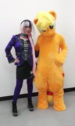 Size: 1232x2048 | Tagged: safe, artist:tpppyk, applejack, coloratura, human, clothes, cosplay, costume, fursuit, irl, irl human, photo, ponyfesta