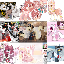 Size: 1564x1564 | Tagged: safe, oc, cat, demon, earth pony, original species, pegasus, pony, unicorn, adoptable, adopted, adopted offspring, adoption, adopts, advertisement, advertising, angel, auction, auction open, black, black and white, blue, deviantart watermark, fc, female, grayscale, kitten, male, mixed media, monochrome, obtrusive watermark, ocean, original character do not steal, paypal, pink, simple background, transparent background, watermark, white