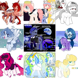 Size: 1564x1564 | Tagged: safe, oc, cat, demon, earth pony, original species, pegasus, pony, unicorn, adoptable, adopted, adopted offspring, adoption, adopts, advertisement, advertising, angel, auction, auction open, black, black and white, blue, deviantart watermark, fc, female, grayscale, kitten, male, mixed media, monochrome, obtrusive watermark, ocean, original character do not steal, paypal, pink, red, simple background, transparent background, watermark, white, yellow