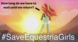 Size: 1088x593 | Tagged: safe, edit, edited screencap, screencap, sunset shimmer, equestria girls, my past is not today, caption, image macro, meta, op can't let go, save equestria girls, text, twitter