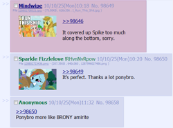Size: 573x426   Tagged: safe, rainbow dash, spike, /co/, 4chan, artifact, brony, the beginning