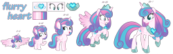Size: 6984x2196 | Tagged: safe, artist:whiteplumage233, princess flurry heart, pony, age progression, baby, baby pony, female, filly, high res, older, older flurry heart, simple background, teenager, transparent background