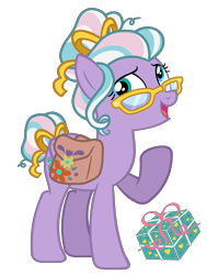 Size: 1377x1826 | Tagged: safe, artist:strawberry-spritz, razzaroo, earth pony, pony, bag, g3, g3 to g4, generation leap, saddle bag, simple background, solo, transparent background