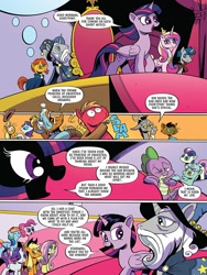 Size: 768x1024 | Tagged: safe, artist:andypriceart, idw, applejack, big macintosh, bon bon, capper dapperpaws, discord, fluttershy, lyra heartstrings, pinkie pie, princess cadance, rainbow dash, rarity, rockhoof, spike, star swirl the bearded, stygian, sunburst, sweetie drops, twilight sparkle, abyssinian, alicorn, draconequus, dragon, earth pony, pegasus, unicorn, spoiler:comic, spoiler:comic89, preview, season 10, twilight sparkle (alicorn)