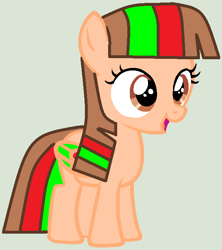 Size: 612x688 | Tagged: safe, artist:twidashfan1234, oc, oc only, oc:firefly solstice, pegasus, base used, female, filly, solo