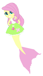 Size: 713x1239 | Tagged: safe, fluttershy, mermaid, equestria girls, png, simple background, white background