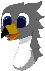 Size: 3673x5725   Tagged: safe, artist:skylarpalette, oc, oc only, oc:blitz, griffon, beak, cheek fluff, fluffy, griffon oc, happy, open beak, open mouth, simple background, simple shading, smiling, transparent background