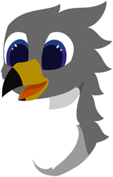 Size: 3673x5725 | Tagged: safe, alternate version, artist:skylarpalette, oc, oc only, oc:blitz, griffon, beak, griffon oc, happy, lineless, male, open beak, open mouth, simple background, simple shading, smiling, transparent background
