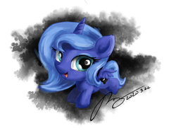 Size: 3000x2250 | Tagged: safe, artist:musical ray, princess luna, alicorn, cute, female, filly, moon, sketchbook, woona, younger