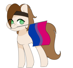 Size: 1765x1628 | Tagged: safe, artist:hellscrossing, earth pony, bisexual pride flag, pride, pride flag, simple background, solo, transparent background