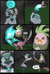 Size: 1600x2358 | Tagged: safe, alternate version, artist:chedx, bird, parrot, parrot pirates, comic:the storm kingdom, my little pony: the movie, alternate design, alternate hairstyle, alternate timeline, alternate universe, comic, everfreedom fighters, fanfic, fight, pirate, the black paw warlocks