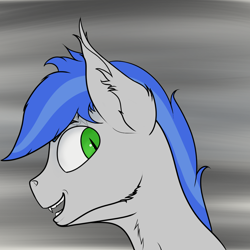 Size: 1200x1200   Tagged: safe, artist:shade stride, oc, oc:shade stride, bat pony, augmented, bust, male, smiling, stallion