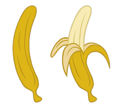 Size: 1300x1140 | Tagged: safe, artist:ravecrocker, equestria girls, banana, context is for the weak, food, fruit, no pony, simple background, transparent background, vector, yellow