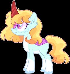 Size: 2656x2784 | Tagged: safe, artist:kurosawakuro, kirin, kirin pony hybrid, magical lesbian spawn, offspring, parent:autumn blaze, parent:rainbow dash, simple background, solo, transparent background