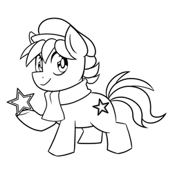 Size: 3017x2960   Tagged: artist needed, source needed, safe, oc, oc only, oc:esperanta poneo, earth pony, pony, chibi, closed mouth, clothes, colt, commission, cute, esperanto, male, monochrome, solo