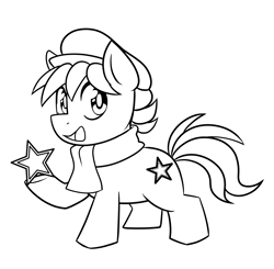 Size: 3017x2960   Tagged: artist needed, source needed, safe, oc, oc only, oc:esperanta poneo, earth pony, pony, chibi, clothes, colt, commission, cute, esperanto, male, monochrome, open mouth, solo