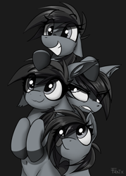Size: 3600x5039 | Tagged: safe, artist:fenixdust, oc, oc:grey matter, earth pony, pony, female, mare, multeity