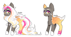 Size: 795x412 | Tagged: safe, artist:lazuli, oc, oc only, pegasus, pony, bald, colored hooves, duo, pegasus oc, simple background, transparent background, wings