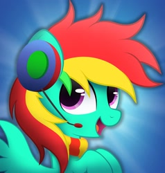 Size: 1953x2048   Tagged: artist needed, source needed, safe, oc, oc only, pegasus, pony, female, headphones, mare, raised hooves, solo, wings