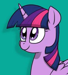 Size: 457x501 | Tagged: safe, artist:strebiskunk, edit, twilight sparkle, alicorn, pony, cyan background, twilight sparkle (alicorn)