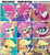 Size: 576x628 | Tagged: safe, edit, edited screencap, screencap, applejack, fluttershy, pinkie pie, earth pony, pegasus, pony, my little pony: pony life, applejack's hat, cowboy hat, cutie mark, eyes closed, female, hat, mare, smiling