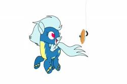 Size: 2176x1440   Tagged: safe, artist:windy breeze, oc, oc:windy breeze, pegasus, pony, blueberry, clothes, food, pie, solo, uniform, wonderbolts, wonderbolts uniform