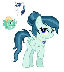 Size: 1280x1430 | Tagged: safe, artist:tenderrain46, oc, pegasus, pony, female, magical gay spawn, mare, offspring, parent:shining armor, parent:zephyr breeze, simple background, transparent background