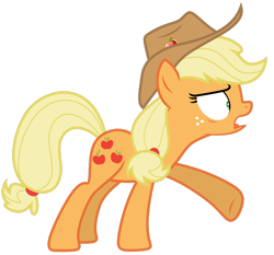 Size: 1280x1191 | Tagged: safe, artist:estories, applejack, pony, simple background, solo, transparent background, vector