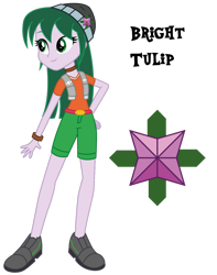 Size: 1280x1625 | Tagged: safe, artist:lhenao, oc, oc only, oc:bright tulip, human, equestria girls, cutie mark, next generation, offspring, parent:sci-twi, parent:timber spruce, parents:timbertwi, simple background, solo, transparent background
