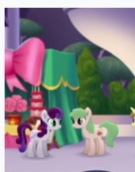 Size: 208x264 | Tagged: safe, screencap, earth pony, pony, my little pony: the movie, background pony, canterlot, cropped, duo focus, female, happy, mare, talking, unnamed character, unnamed pony