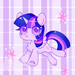 Size: 1280x1280 | Tagged: safe, artist:桃沢夏茶, twilight sparkle, alicorn, pony, chest fluff, colored hooves, colored pupils, cute, cutie mark, cutie mark eyes, solo, starry eyes, twiabetes, twilight sparkle (alicorn), wingding eyes