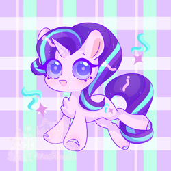 Size: 1280x1280 | Tagged: safe, artist:桃沢夏茶, starlight glimmer, pony, unicorn, chest fluff, colored hooves, colored pupils, cute, cutie mark, cutie mark eyes, female, glimmerbetes, mare, solo, wingding eyes