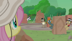 Size: 1920x1080 | Tagged: safe, screencap, biff, doctor caballeron, fluttershy, rogue (character), withers, daring doubt, henchmen