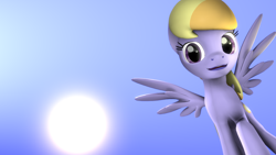 Size: 1280x720 | Tagged: safe, artist:firemadude, cloud kicker, pegasus, pony, 3d, cute, looking at you, source filmmaker, wings
