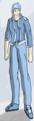 Size: 1252x4329 | Tagged: safe, artist:zeroviks, oc, oc:ice storm, human, anime, humanized, humanized oc, long legs, male, solo