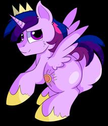 Size: 5300x6200 | Tagged: safe, artist:rainbowtashie, princess celestia, twilight sparkle, oc, oc:princess morning star, alicorn, pony, alicorn oc, alicorn princess, butt, commissioner:bigonionbean, crown, cutie mark, extra thicc, flank, fusion, fusion:princess morning star, horn, jewelry, male, plot, regalia, rule 63, stallion, thicc ass, twilight sparkle (alicorn), wings, writer:bigonionbean