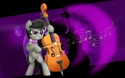 Size: 800x499 | Tagged: safe, artist:jhayarr23, octavia melody, pony, cello, music notes, musical instrument, solo